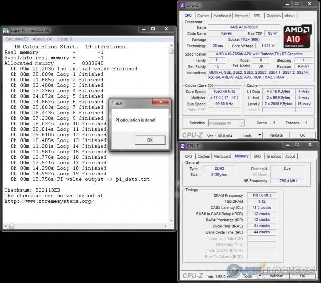 SuperPi 1M at 4.7 GHz
