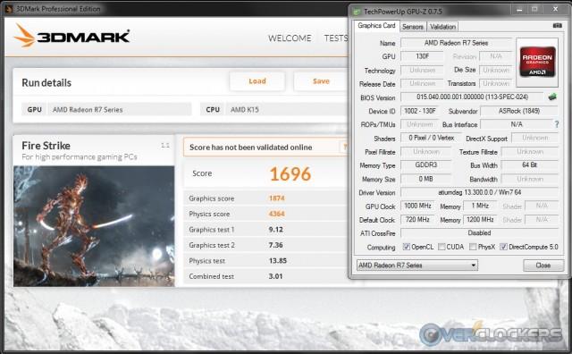 3DMark Fire Strike iGPU @ 1000 MHz