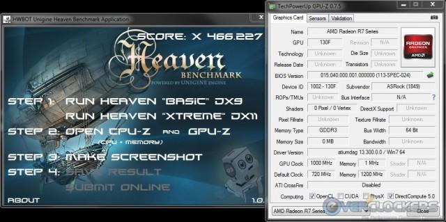 HWBot Heaven @ iGPU 1000 MHz