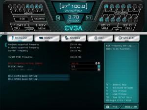OVerclock Tab, BCLK Adjustment Screen
