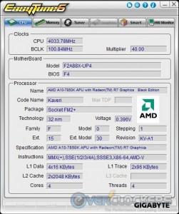Easy Tune6 CPU Tab