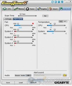 HW Monitor Tab - Fan & Temps