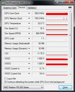 GPU-Z Monitoring