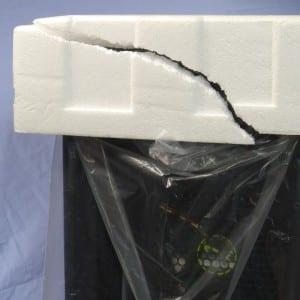 Cracked Styrofoam