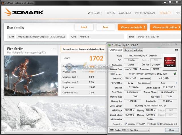 3DMark Fire Strike - iGPU @ 1029 MHz