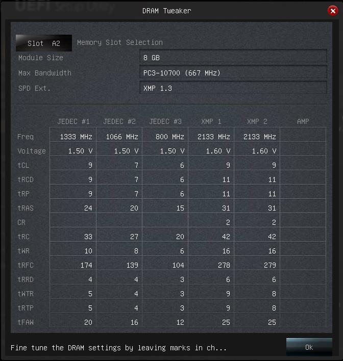 TridentX 16GB 2133 CL9 - ASRock Z87M OCF UEFI