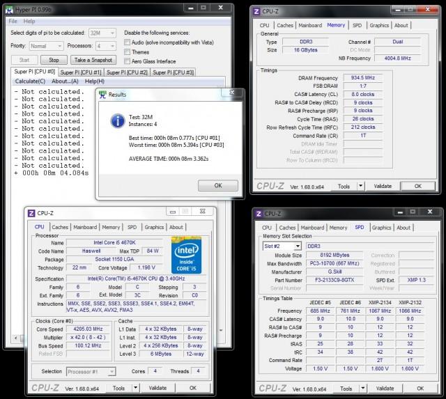 TridentX 16GB 2133 CL9 - OC 1866 CL8