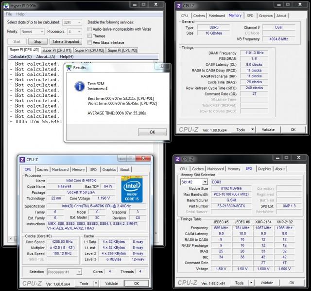 TridentX 16GB 2133 CL9 - OC 2200 CL9