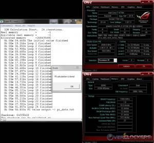 SuperPi 32M @ 4.6 GHz / 2400 MHz Memory