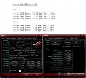 x264 @ 4.6 GHz / 2400 Memory