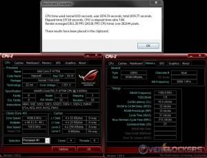 PoV Ray @4.6 GHz / 2400 MHz Memory