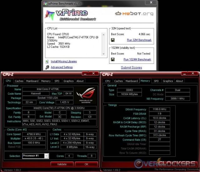 wPrime 32M @ 4.8 GHz / 2400 MHz Memory