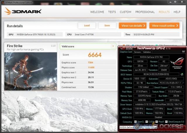 3DMark Fire Strike Stable Overclock