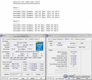 x264 @ Stock / 2400 MHz Memory