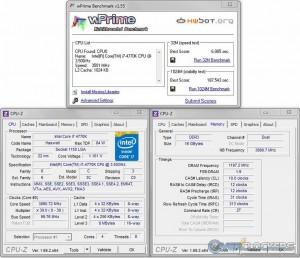 wPrime 32M/1024M @ Stock / 2400 MHz Memory