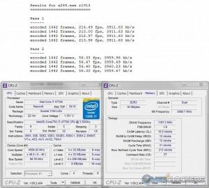 x264 @ 4.6 GHz / 2400 MHz Memory