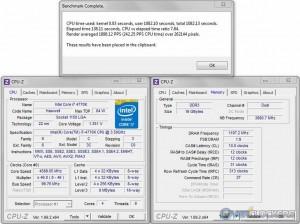 PoV Ray 3.73 @ 4.6 GHz / 2400 MHz Memory