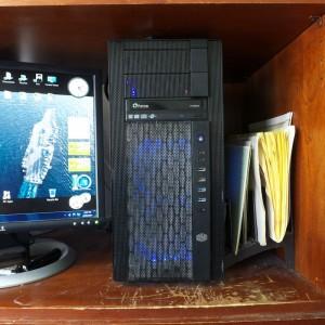 A Computer Under a Shelf