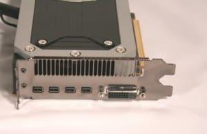 Inputs - 1x DL-DVI-D, 4x mDisplayPorts