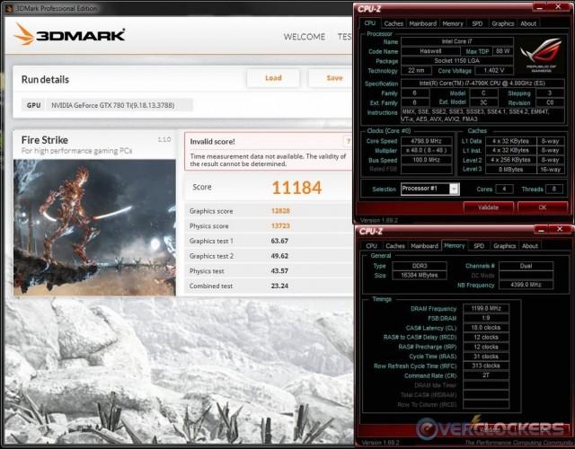3DMark Fire Strike @ 4.8 GHz / 2400 MHz Memory