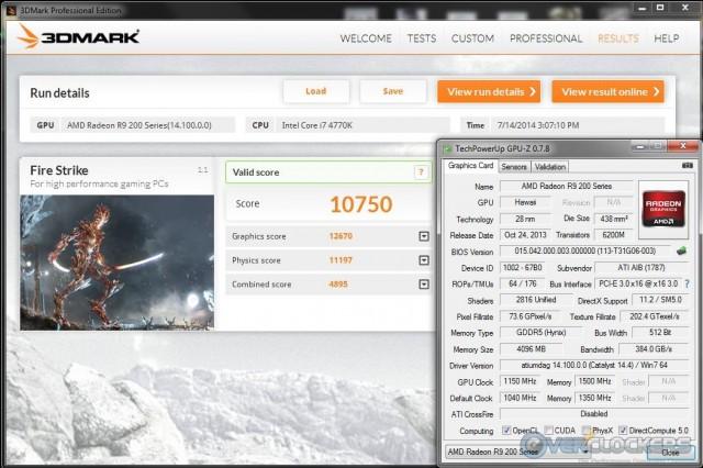 3DMark Fire Strike @ 1150 MHz GPU / 1500 MHz Memory