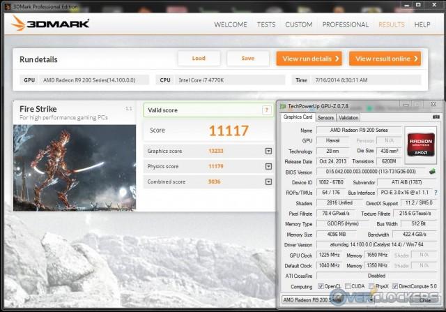 3DMark Fire Strike @ 1225 MHz GPU / 1650 MHz Memory
