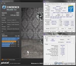 Cinebench R11.5 @ 4.4 GHz / 2400 MHz Memory