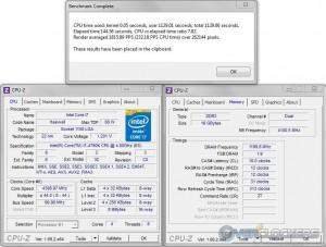 PoV Ray @ 4.4 GHz / 2400 MHz Memory