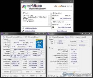 wPrime @ 4.8 GHz / 2400 MHz Memory