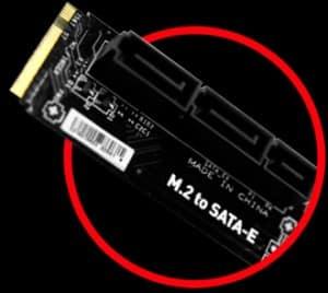Optional M.2 to SATA Express Adapter