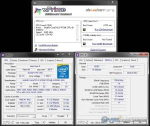wPrime 32M @ 4.9 GHz / 1600 MHz Memory