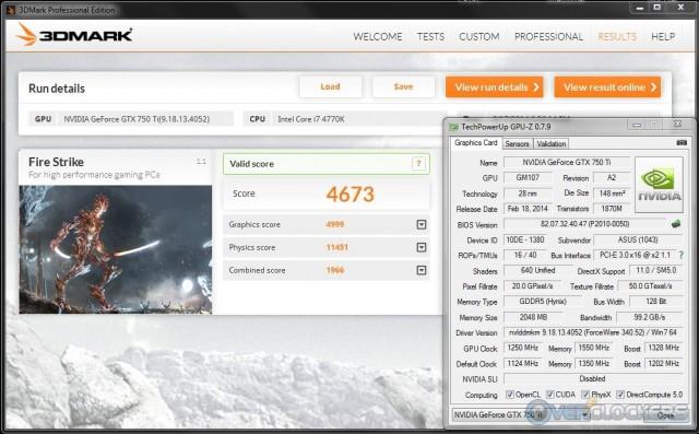 3DMark Fire Strike @ 1250 MHz GPU / 1550 MHz Memory