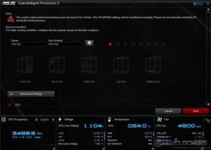 5-Way Optimization Start Screen Options