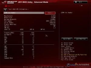 BIOS SPD Information