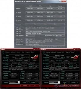 AIDA64 Cache & Memory @ 4.4 GHz CPU / 2400 MHz Memory