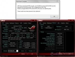 PoV Ray @ 4.4 GHz CPU / 2400 MHz Memory