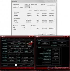 7zip @ 4.4 GHz CPU / 2400 MHz Memory