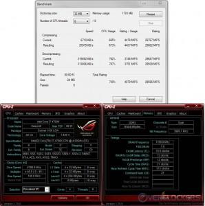 7zip @ 4.8 GHz CPU / 2400 MHz Memory