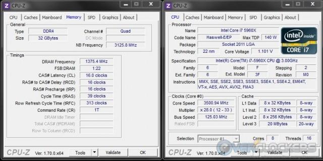 Memory Set to 2750 MHz