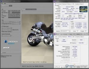 Cinebench R10 @ 3.5 GHz CPU / 2400 MHz Memory