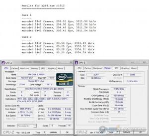 x264 @ 3.5 GHz CPU / 2400 MHz Memory