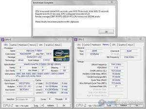 PoV Ray @ 3.5 GHz CPU / 2400 MHz Memory