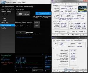 Intel XTU @ 3.5 GHz CPU / 2400 MHz Memory