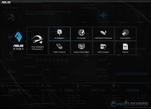 AI Suite 3 Main Navigation Screen
