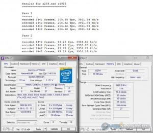 x264 @ 3.5 GHz CPU / 3000 MHz Memory