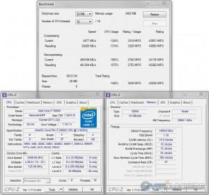7zip @ 3.5 GHz CPU / 3000 MHz Memory