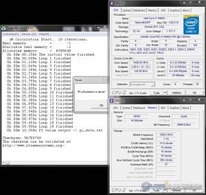 SuperPi 1M @ 3.5 GHz CPU / 3000 MHz Memory
