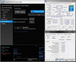 Intel XTU @ 3.5 GHz CPU / 3000 MHz Memory