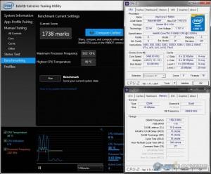 XTU @ 3.5 GHz CPU / 3000 MHz Memory