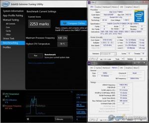 XTU @ 4.75 GHz CPU / 3000 MHz Memory